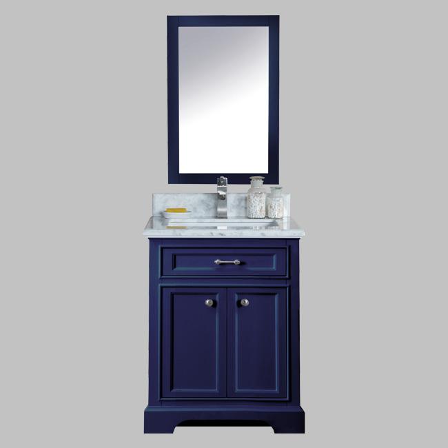 24 Milan Bathroom Vanity Blue With Carrera Top