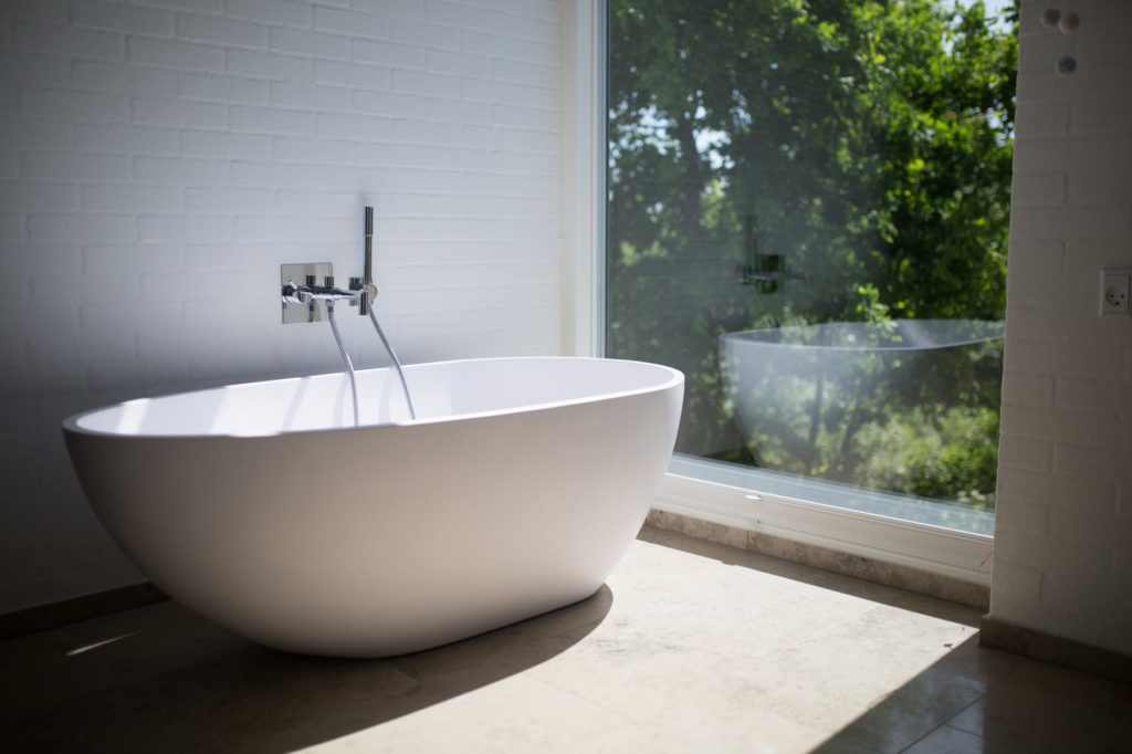 modern bathroom remodel bathtub outdoor