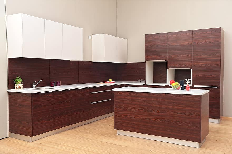 modern kitchen with paneled appliances