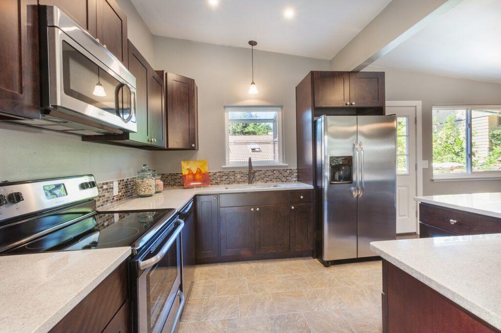 kitchen appliances layout
