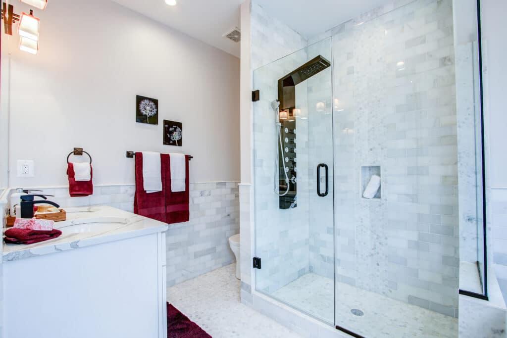 shower bathroom remodeling process