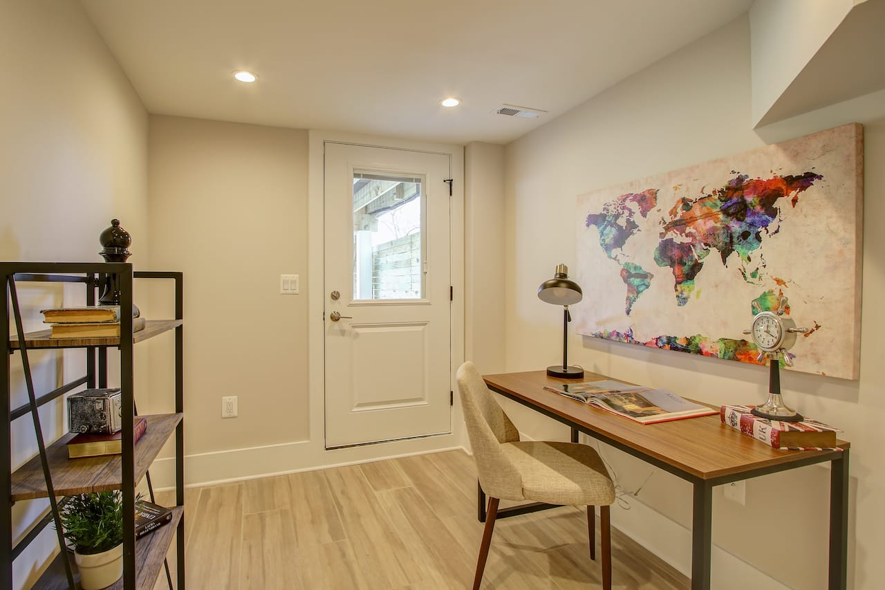 basement remodel home office