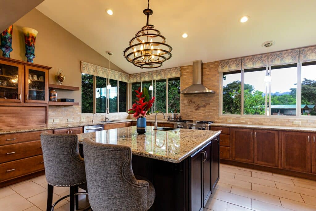 kitchen with ceramic tile flooring