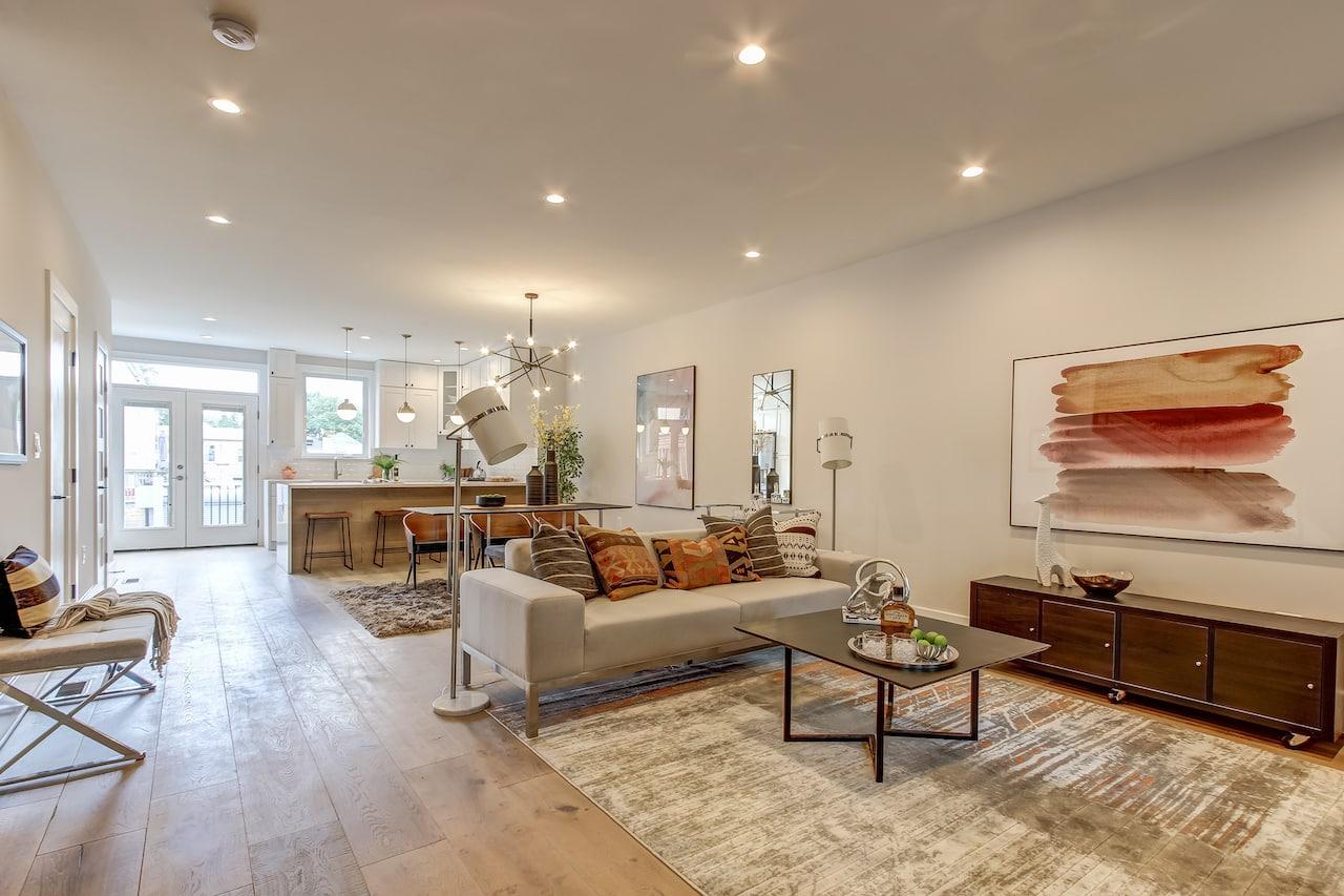 kitchen remodel living room