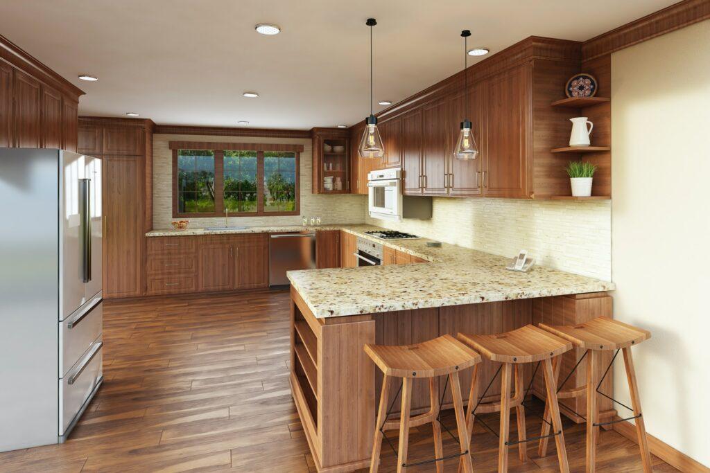 peninsula kitchen layout