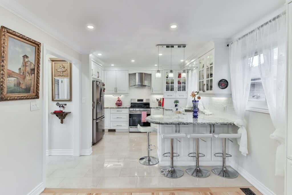L shaped kitchen remodel