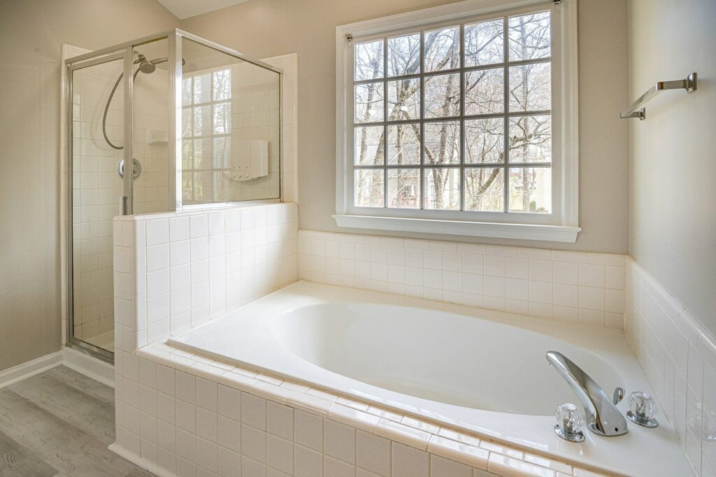 bathroom with natural window
