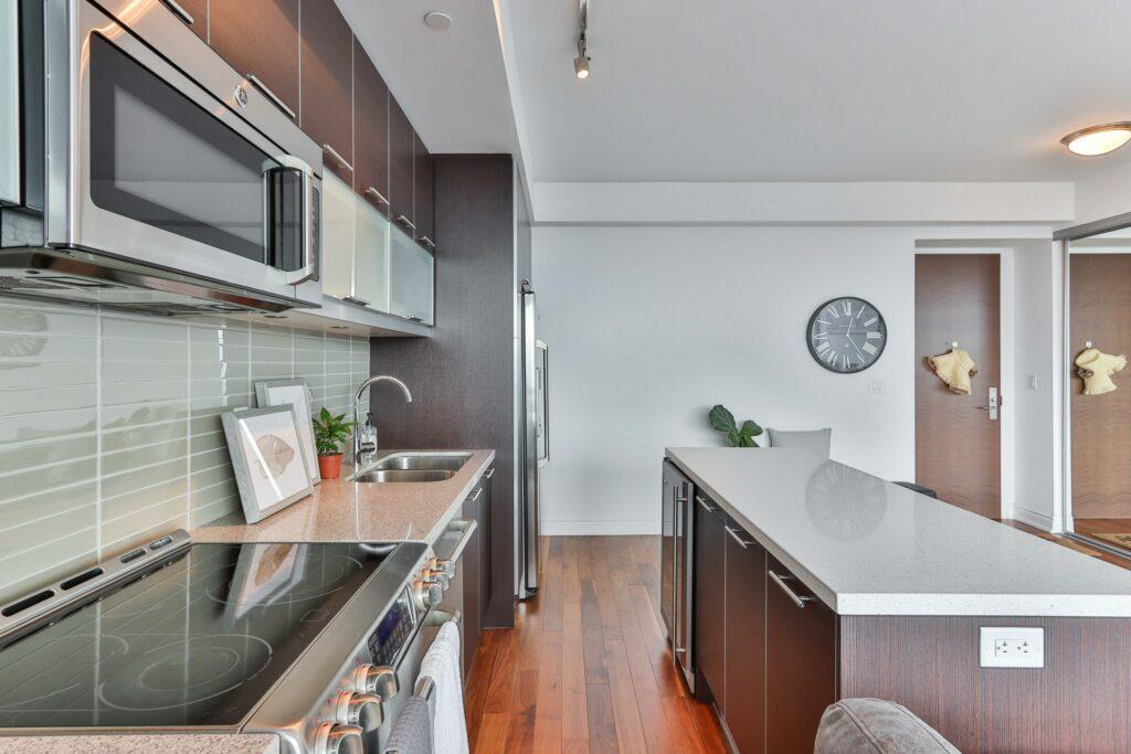 galley kitchen island remodel