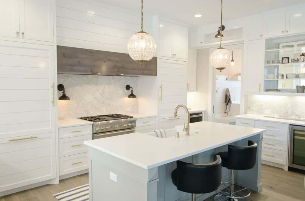 rectangular kitchen island
