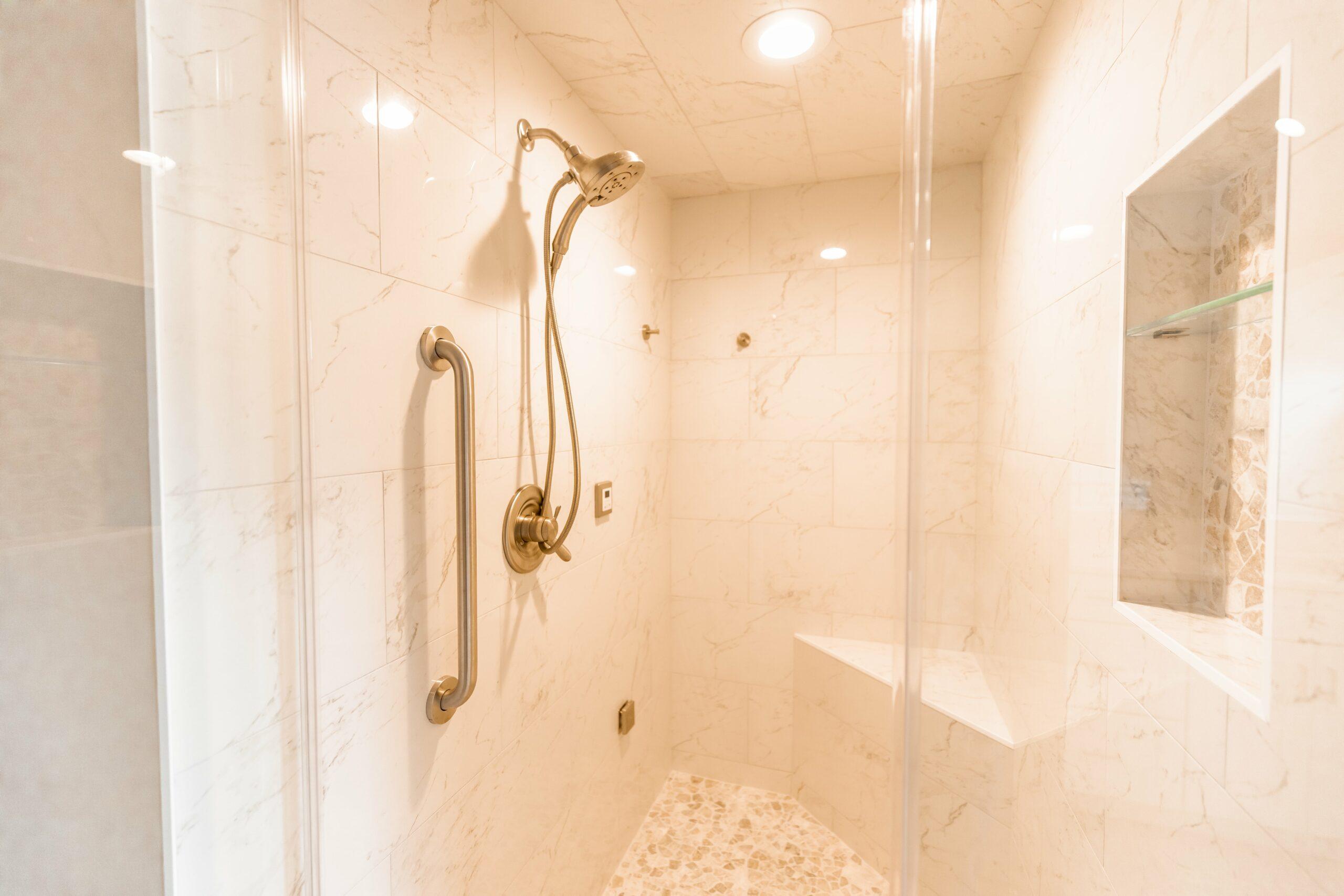 full glass shower