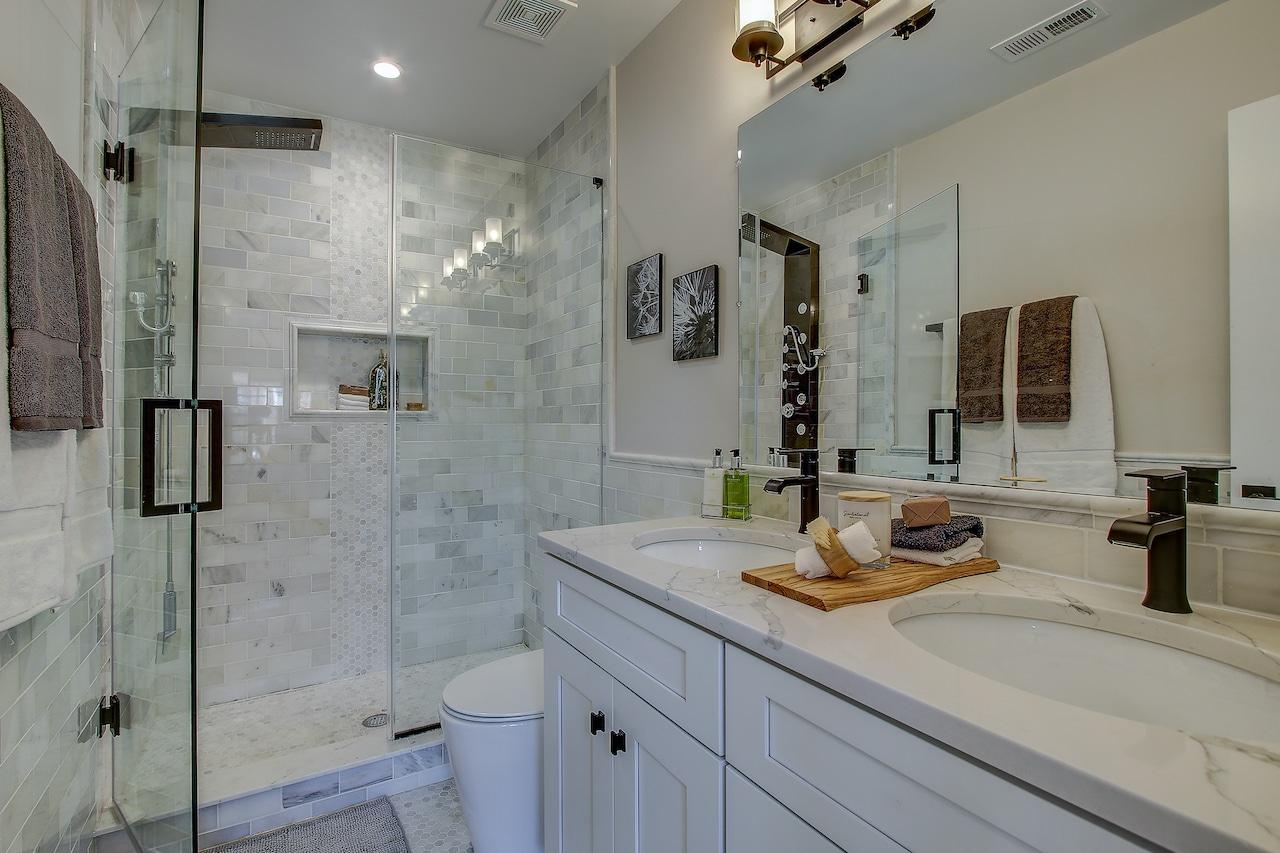 bathroom wall options