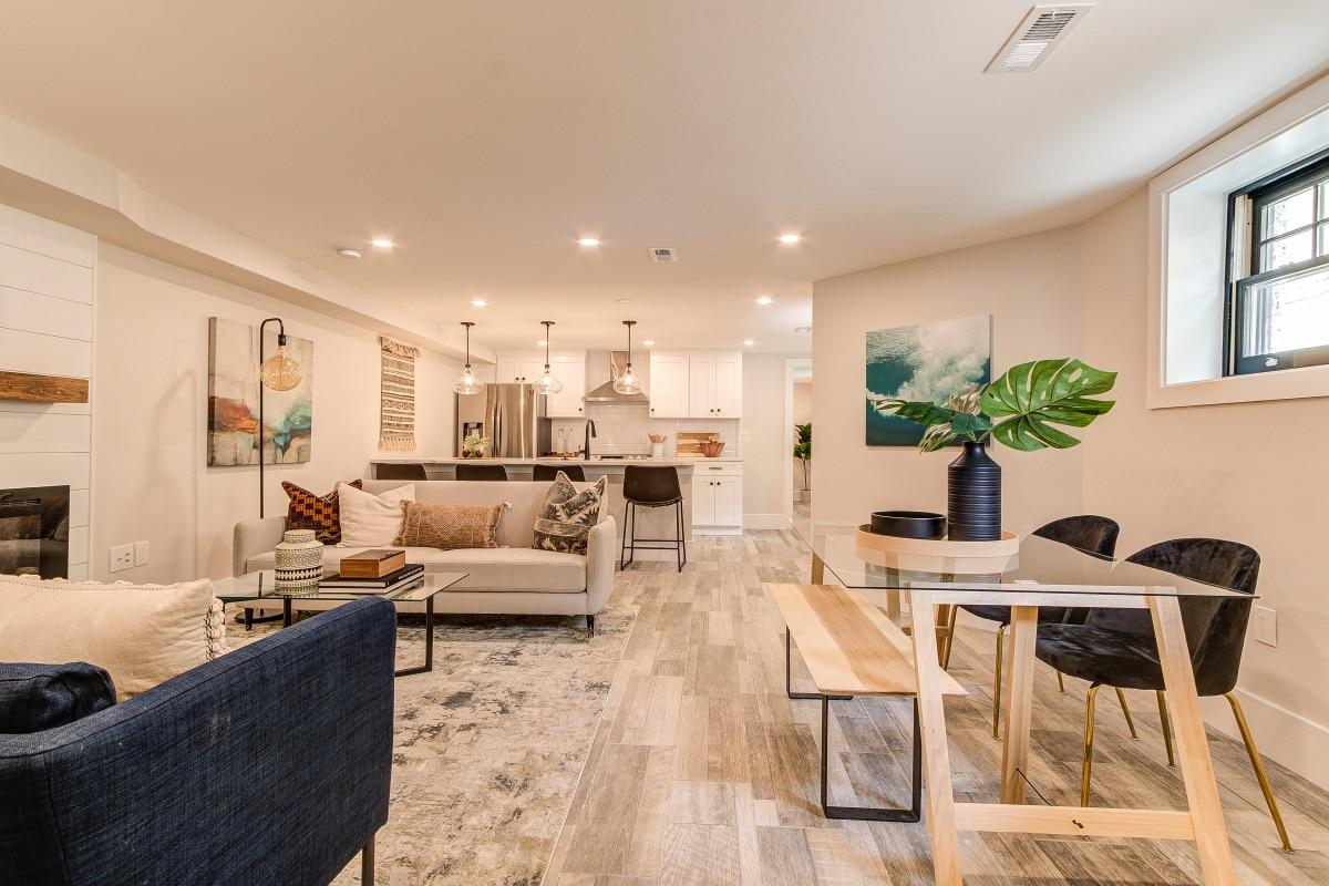 basement living room redo