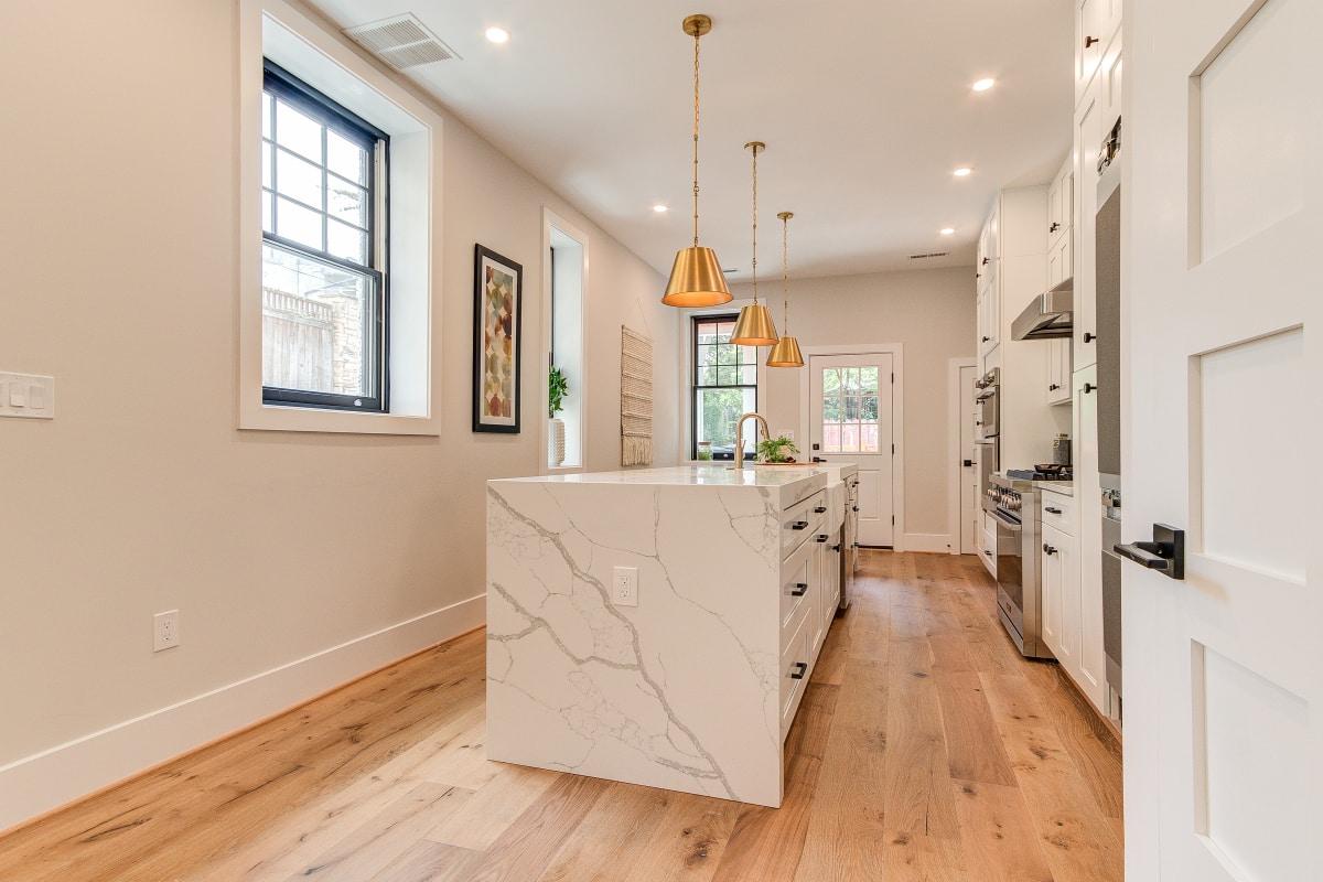 kitchen wooden floor