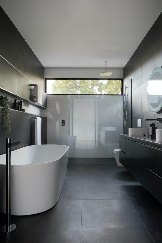 dark bathroom color