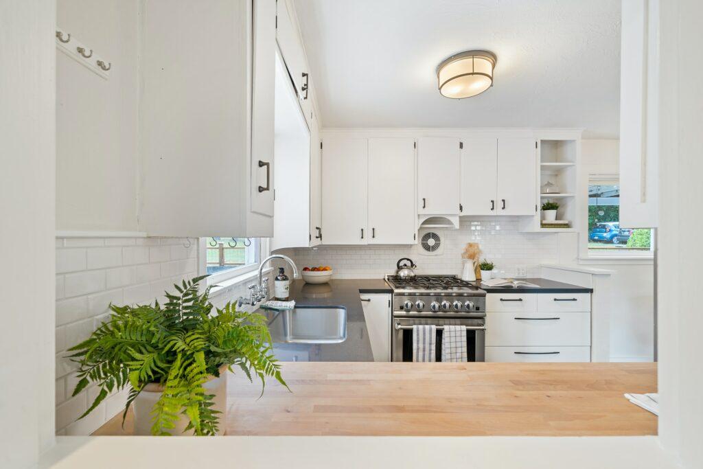 l-shaped kitchen layout idea