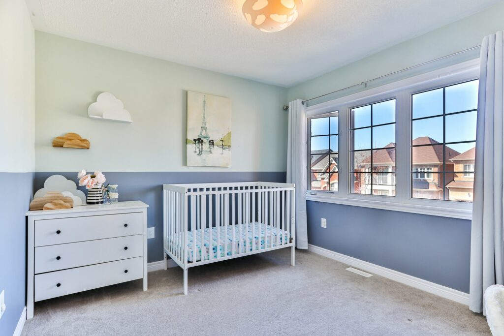 how to paint baby room